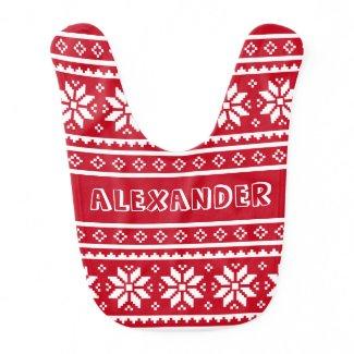 Christmas pattern baby bib