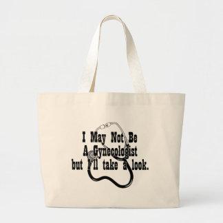 Funny, Not A Gynocologist Jumbo Tote Bag