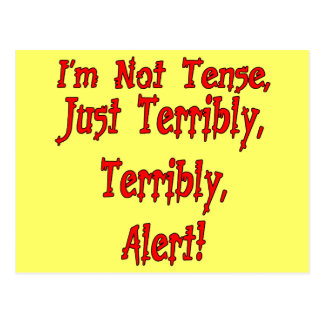 Funny Not Tense T-shirts Gifts Postcard