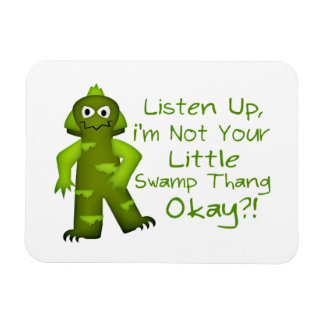 Funny Not Your Little Swamp Thang Monster Rectangular Photo Magnet