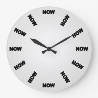 Funny Now Clock (Light Grey)