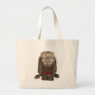Funny Nubian Goat With Monocle Jumbo Tote Bag