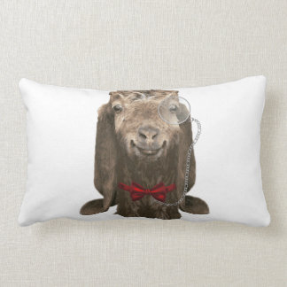 Funny Nubian Goat With Monocle Lumbar Cushion