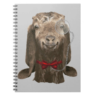 Funny Nubian Goat With Monocle Notebooks