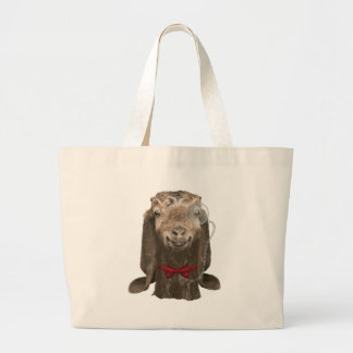 Funny Nubian Goat With Monocle Jumbo Tote Bag