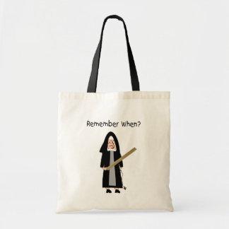 "Funny Nun Cards :Nuns Carried Rulers"" Bag"