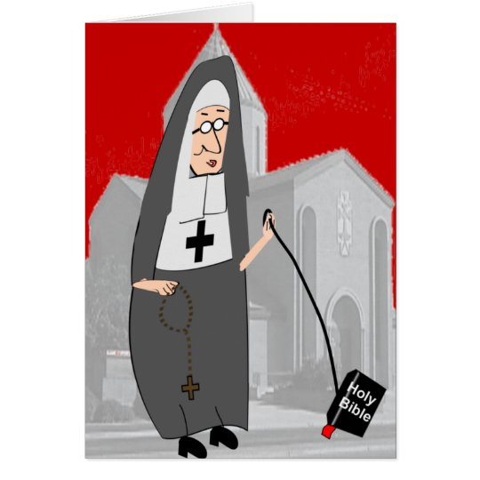 Funny Nun Greeting Cards