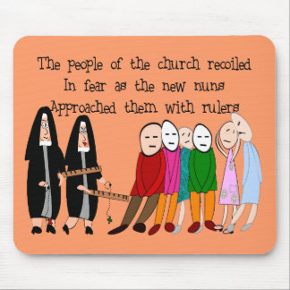 Funny Nuns Cards and Gifts Mouse Mat