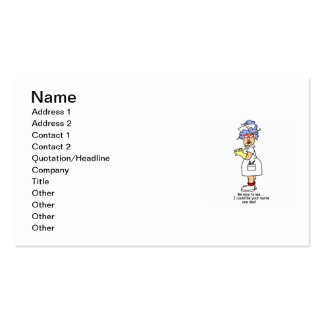 Funny Nurse Be Nice to Me T-shirts and Gifts Pack Of Standard Business Cards