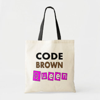 Funny Nurse CODE BROWN QUEEN Gifts Canvas Bag