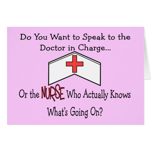 Funny Nurse Gifts Card