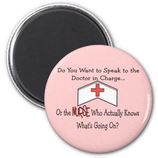 Funny Nurse Gifts 6 Cm Round Magnet