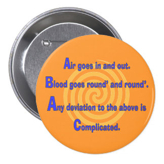 Funny Nurse or Respiratory Therapy Gifts 7.5 Cm Round Badge