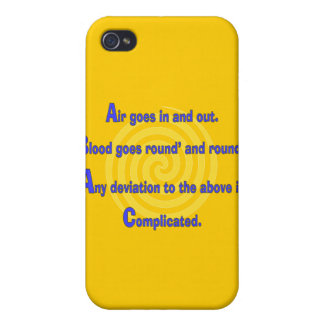 Funny Nurse or Respiratory Therapy Gifts Cases For iPhone 4