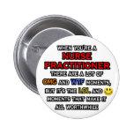 Funny Nurse Practitioner ... OMG WTF LOL Badge