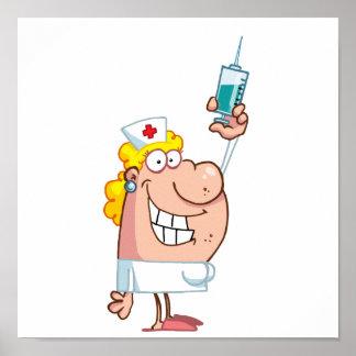 Funny Nurse-with-syringe shot Poster