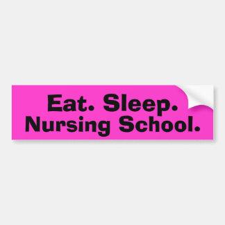 Funny Nursing Student Bumper Sticker Car Bumper Sticker