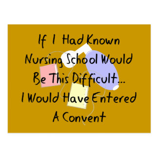 "Funny Nursing Student ""Entered A Convent"" Gifts Postcard"