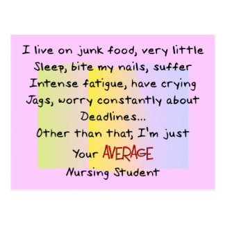 Funny Nursing Student Gifts Post Card
