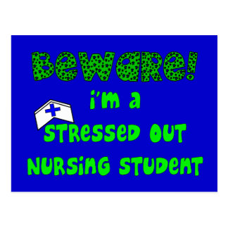 Funny Nursing Student T-Shirts and Gifts Postcard