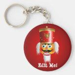 Funny Nutcracker Basic Round Button Key Ring