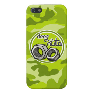 Funny Nuts bright green camo camouflage iPhone 5 Cover