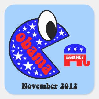 Funny Obama 2012 Square Stickers