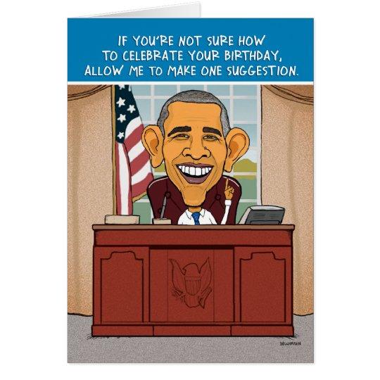 Funny Obama Birthday Card