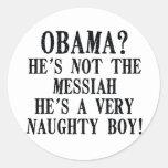 Funny Obama Round Sticker