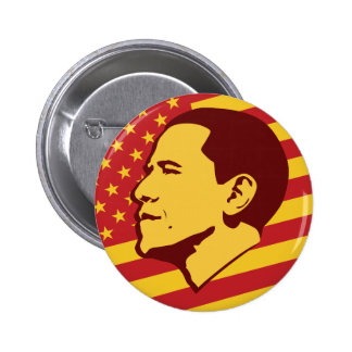 Funny Obama Socialist America 6 Cm Round Badge