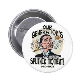 Funny Obama Sputnik Moment 6 Cm Round Badge