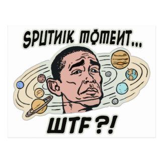 Funny Obama Sputnik Moment Post Card