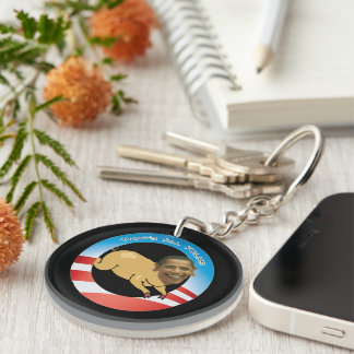 Funny Obama That's All Folks Keychain