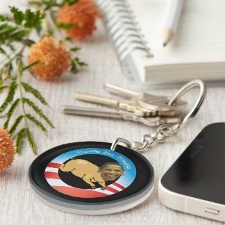 Funny Obama That's All Folks Keychain