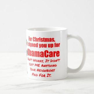 Funny ObamaCare Christmas Basic White Mug