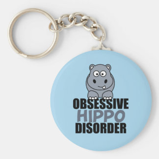 Funny Obsessive Hippo Disorder Key Ring