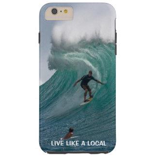 Funny Ocean Beach  Surfing Tough iPhone 6 Plus Case
