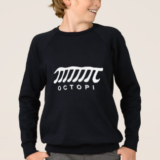 Funny octopi math nerd white and grey sweatshirt