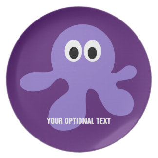 Funny Octopus custom melamine plates