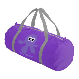 Funny Octopus custom monogram duffle bags