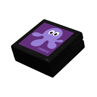 Funny Octopus custom monogram jewelry / gift box