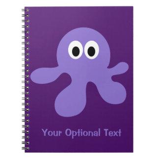 Funny Octopus custom notebook