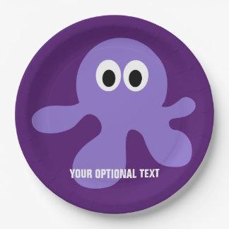 Funny Octopus custom paper plates