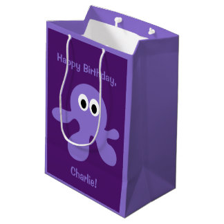 Funny Octopus custom text gift bags