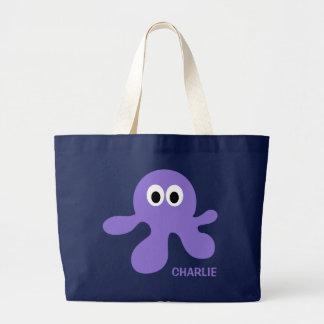 Funny Octopus custom tote bags