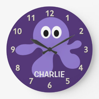 Funny Octopus custom wall clock