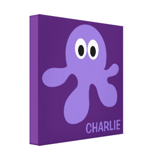 Funny Octopus custom wrapped canvas print