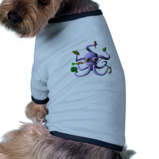 Funny octopus holding food items dog tshirt