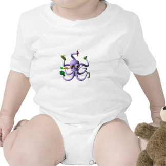 Funny octopus holding food items t-shirt