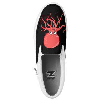 Funny Octopus on Black Slip On Sneaker